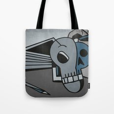 Skull, Book and Coffee Tote Bag