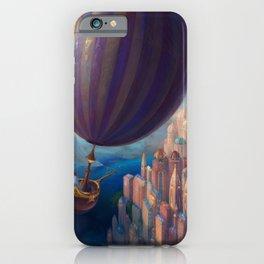 Marvelous Spectacular Fantasy Castle Hot Air Balloon Air Ship 1001 Nights Dreamland Ultra HD iPhone Case