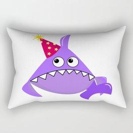 Sad party shark, Violet shark, Baby shark, Funny shark, Shark logo, Big eyes Shark vector, Shark svg Rectangular Pillow