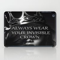 crown iPad Cases featuring Crown by I Love Decor