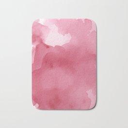 Abstract Pink Watercolor  Print Bath Mat