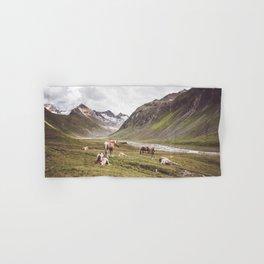 Tyrolean Haflinger horses I Hand & Bath Towel