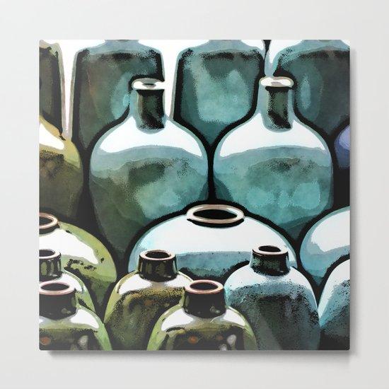 Ceramic Vases Metal Print