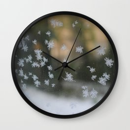 "It's frosty ""Ice Flower"" #1 #art #society6 Wall Clock"