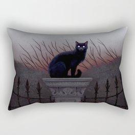 Silent Watcher Rectangular Pillow