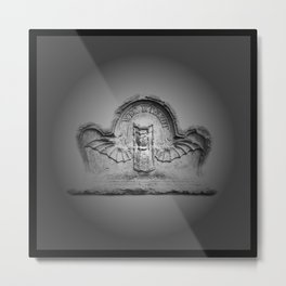 Flying hourglass Metal Print