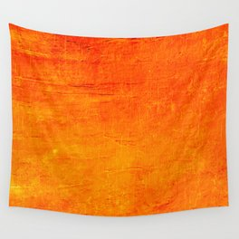 Orange Sunset Textured Acrylic Painting Wall Tapestry