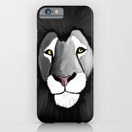 The grey lion iPhone Case