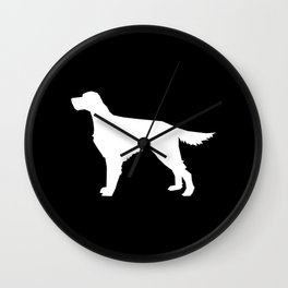 Irish Setter dog silhouette minimal dog breed portrait gifts for dog lover Wall Clock