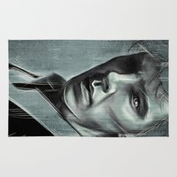 actor Area & Throw Rugs featuring Benedict Cumberbatch by Schwebewesen • Romina Lutz