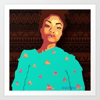 girly Art Prints featuring Girly by UnifiedGlory
