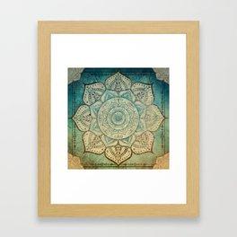 Faded Bohemian Mandala Framed Art Print