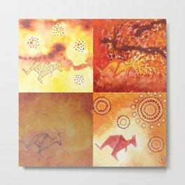 4 Kangaroos Metal Print