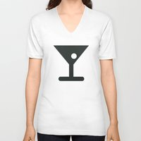 alcohol V-neck T-shirts featuring Alcohol by Alejandro Díaz