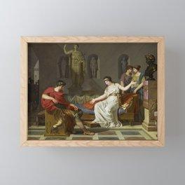 Cleopatra and Octavian Framed Mini Art Print