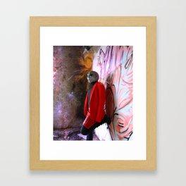 Alien woman portrait Framed Art Print