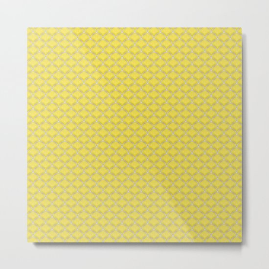 Small scallops in buttercup yellow Metal Print