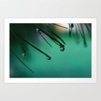 emerald Art Prints featuring Emerald  by 8daysOfTreasures