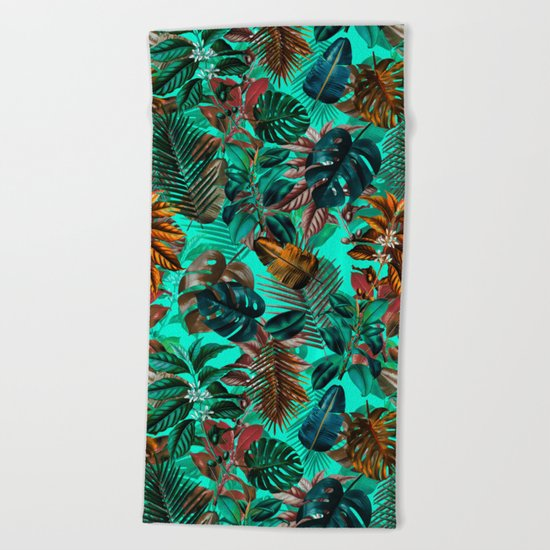 Tropical Garden II Beach Towel