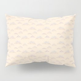 Cute clouds with colored pencil imitation design Pillow Sham