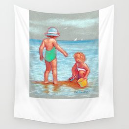 Beach Babies Wall Tapestry
