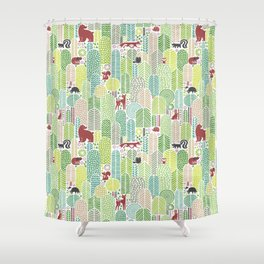 Welcome to the forest! Shower Curtain