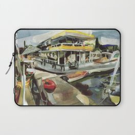 Capt. Carl W. Bolender sits abroad the S.S. Hurricane Gloria - Long Wharf, Newport Laptop Sleeve