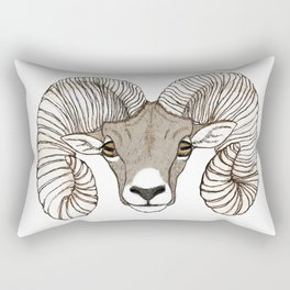 Ram Head in Color Rectangular Pillow