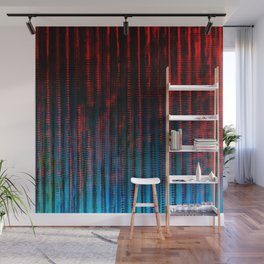 Syntax (Red + Blue) Wall Mural