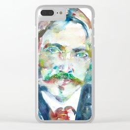 ROBERT LOUIS STEVENSON - watercolor portrait Clear iPhone Case