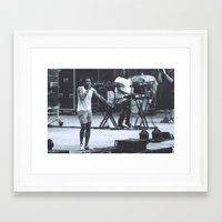 childish gambino Framed Art Prints featuring gambino can sing (Childish Gambino) by bryantwashere