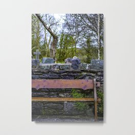 Cemetery Bench Metal Print