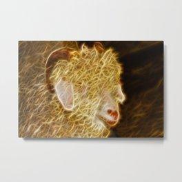 Angora Goat Metal Print