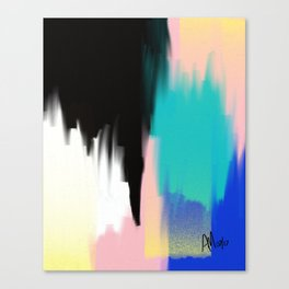 Turquoise Light and Yellow Canvas Print