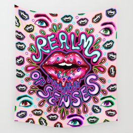 Realm Of Senses - Hot Lips Wall Tapestry