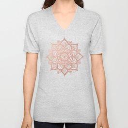 New Rose Gold Mandala Unisex V-Neck