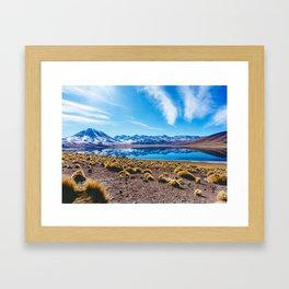 Laguna Miñiques, San Pedro de Atacama Desert, Chile Framed Art Print