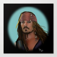 jack sparrow Canvas Prints featuring Jack Sparrow by Arkady