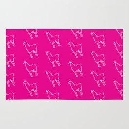 Rad Pink Llama Rug