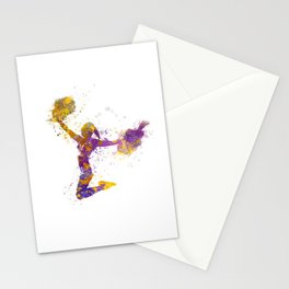 young woman cheerleader 03 Stationery Cards