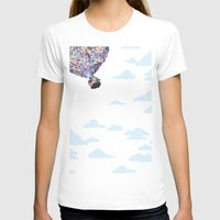 pixar T-shirts featuring disney pixar up.. balloons and sky with house by studiomarshallarts