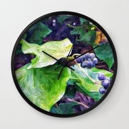 Ivy Berries Wall Clock