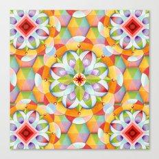 BigTop Rainbow Mandala Canvas Print