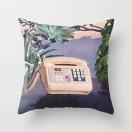 Late Nite Phone Talks Throw Pillow