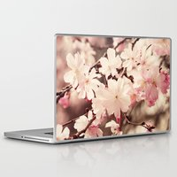 cherry blossom Laptop & iPad Skins featuring Cherry Blossom by Erin Johnson