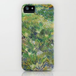 Long Grass with Butterflies by Vincent van Gogh iPhone Case