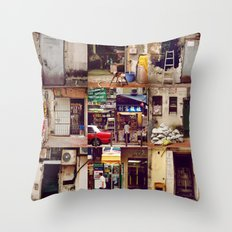 Doors of Hong Kong Throw Pillow