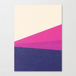 Stripe IV Violet Ray Canvas Print