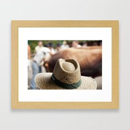 Hat & Cow Framed Art Print