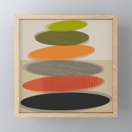 Mid-Century Modern Ovals Abstract Framed Mini Art Print
